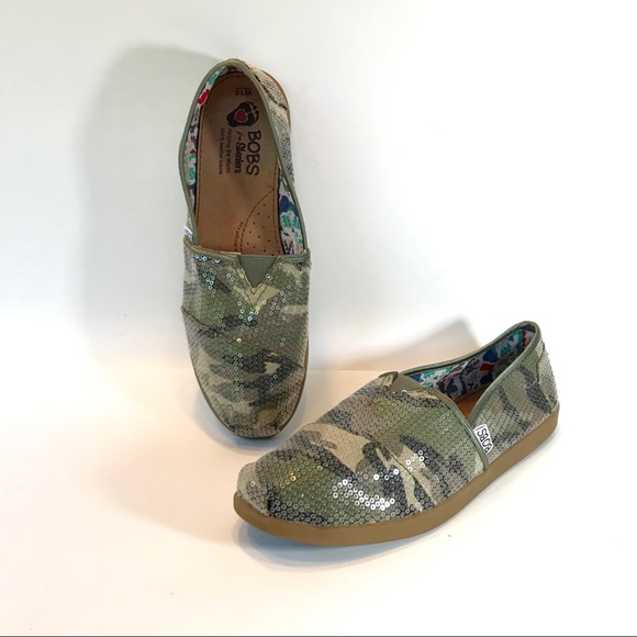best wholesaler factory price amazing selection BOBS for SKECHERS Camo Sequin Sneakers Flats